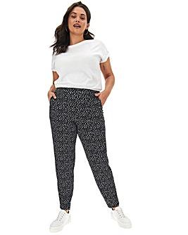 Petite Mono Print Jogger Trousers