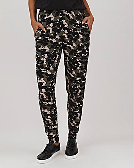 Print Jersey Tapered Trousers Regular