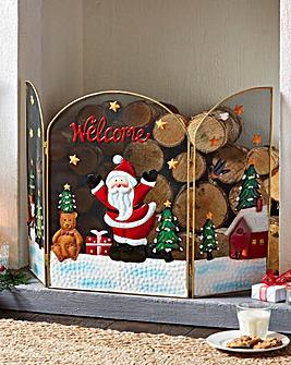Santa Decorative Screen