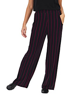 Stripe Jersey Wide Leg Trousers Long