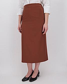 Tailored Nutmeg Maxi Skirt