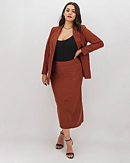 Tailored Nutmeg Maxi Skirt