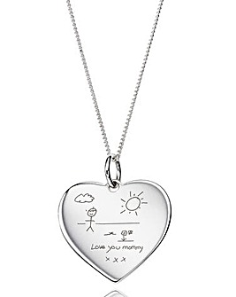 Personalised Handwritten Heart Pendant