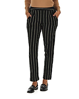 Stripe Crepe Tapered Trousers
