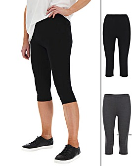 2 Pack Crop Jersey Leggings