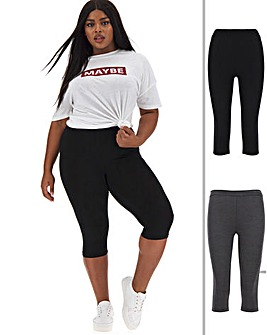 2 Pack Crop Jersey Leggings