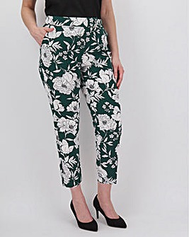 Green Floral Print Fashion Trouser
