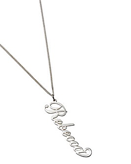 Personalised 18 Inch Sterling Silver Necklace