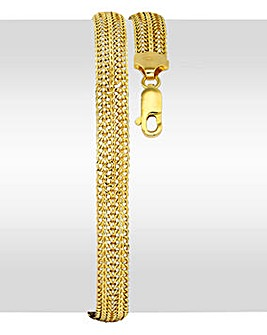 9 Carat Gold 18 Inch Slinky Domed Chain