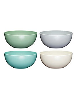 Colourworks Pack of 4 Melamine Bowls