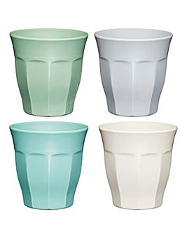 Colourworks Pack of 4 Melamine Tumblers