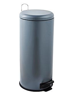 30 Litre Grey Pedal Bin