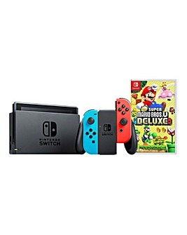Nintendo Switch + Mario Bros U Deluxe