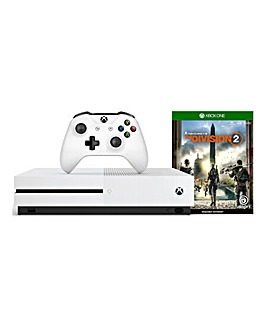 Xbox One S 1TB White + The Division 2