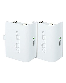 Xbox One Twin Rechargeable Battery Packs - White