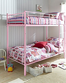 Oscar Metal Bunk Bed with Quilted Mattress