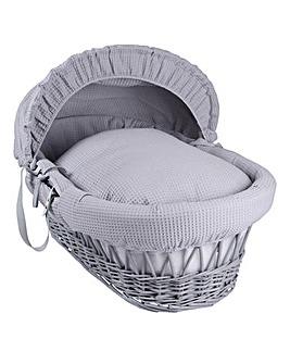 Clair de Lune Waffle Grey Moses Basket