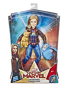 Captain Marvel Doll & Goose the Cat