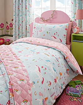 Magical Unicorns Duvet Cover Set Double