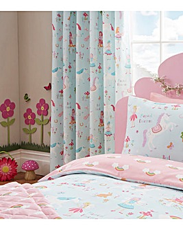 Magical Unicorns Lined Curtains & Ties