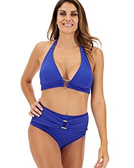 Textured Halterneck Bikini Set