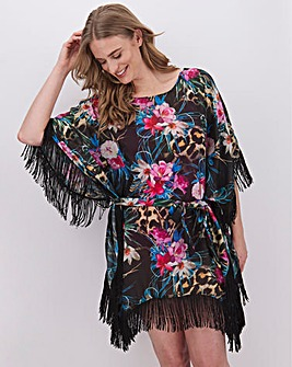 Joanna Hope Fringed Kaftan