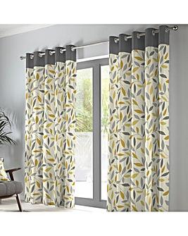 Fusion Beechwood Eyelet Curtains