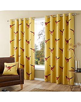 Fusion Pheasant Eyelet Curtains
