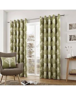 Fusion Woodland Trees Eyelet Curtains