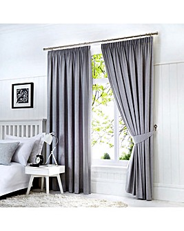 Fusion Dijon Blackout Lined Curtains