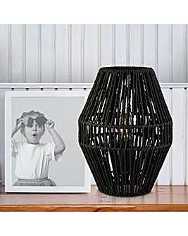 Black Rattan Lamp