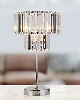 Chrome and Clear Acrylic Table Lamp