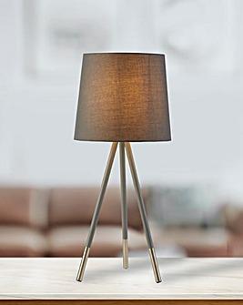 Grey Tripod Table Lamp