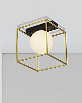 Gold Frame Wall Light