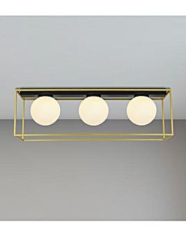 Gold Boxed Frame Ceiling Light