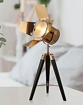 Copper & Black Spotlight Table Lamp