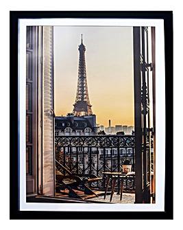 Eiffel View Framed Print
