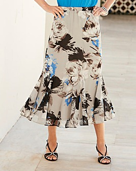 Nightingales Chiffon Printed Skirt