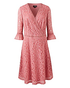 Lovedrobe V-Neck Lace Dress