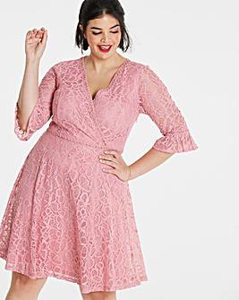 Lovedrobe V-Neck Lace Dress