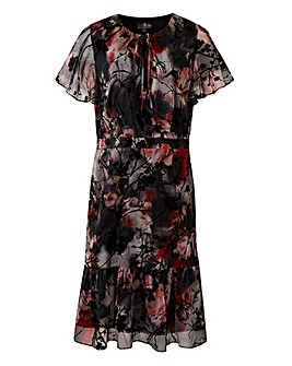Lovedrobe Flock Print Dress