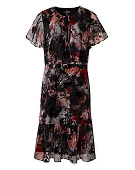 Lovedrobe Flock Print Dress