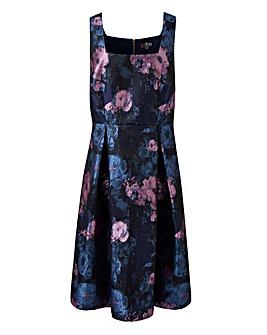 Lovedrobe Square Neck Jacquard Dress