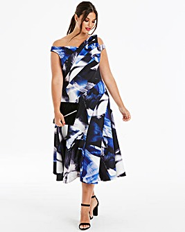 Coast Maura Print Scuba Maxi Dress