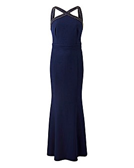 Little Mistress Navy Maxi Dress
