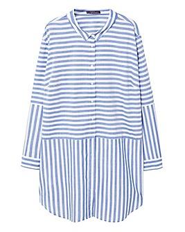 Violeta by Mango Stripe Longline Shirt