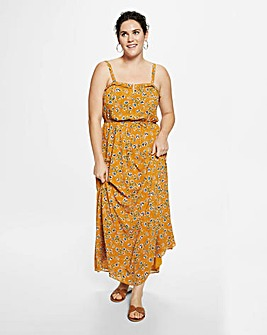 Violeta by Mango Floral Maxi Dress