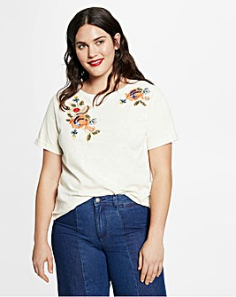 Violeta by Mango Embellished Flower Tee