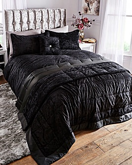 Crushed Velvet Duvet Cover Set