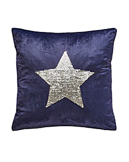 Star Sequin Cushion Cover
